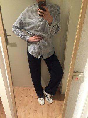 Zara Blouse-chemisier blanc-bleu azur