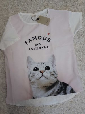 Zara Girl Shirt mit Katze 164