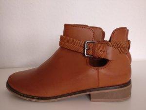 Zara Cut out boots bruin