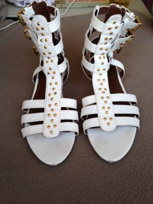 Zara Roman Sandals white leather