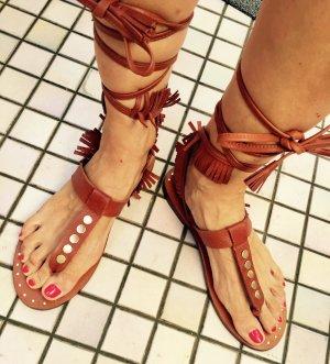 ZARA Gladiator Sandalette Leder
