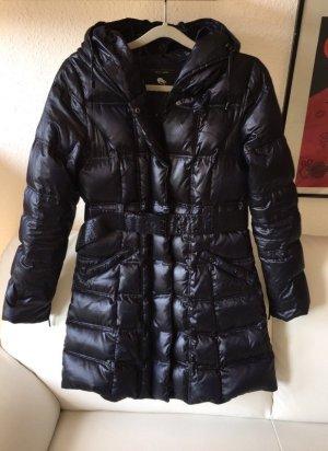 Zara Down Coat dark blue