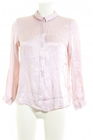 Zara Glanzbluse rosa Business-Look