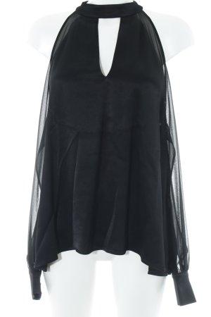 Zara Blouse brillante noir élégant