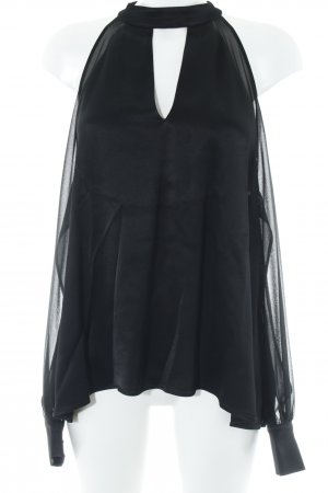 Zara Glanzbluse schwarz Elegant