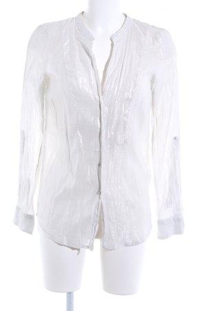 Zara Blusa brillante color plata estilo extravagante