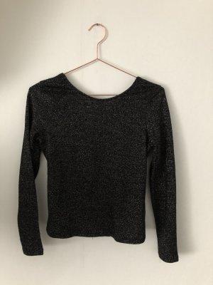 Zara Camicia maglia nero-argento