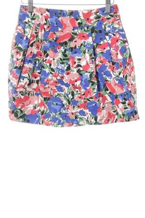 Zara Flared Skirt flower pattern