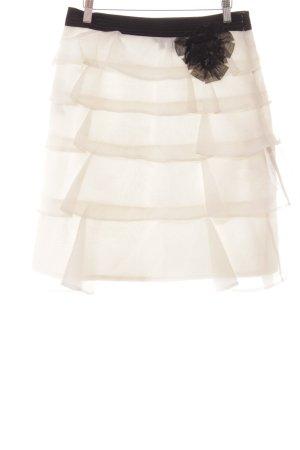 Zara Falda acampanada blanco puro-negro estilo clásico