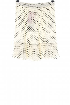 Zara Godet Skirt cream-black allover print casual look