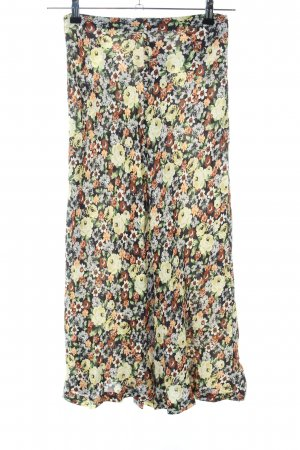 Zara Godet Skirt allover print casual look