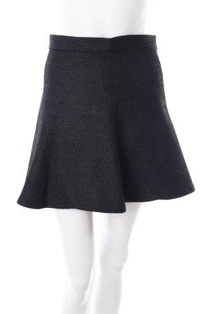 Zara Falda Godets negro Patrón de tejido