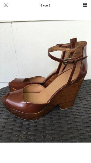 Zara gr 41 High Heels Holz braun