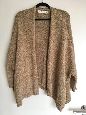 Zara Gr. M Strickjacke Cardigan Braun Gold Jacke Knit oversize