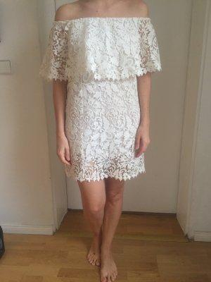 Zara Robe épaules nues blanc