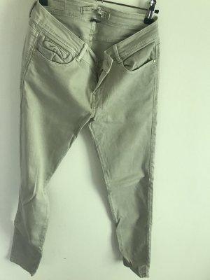 Zara grau beige Jeans
