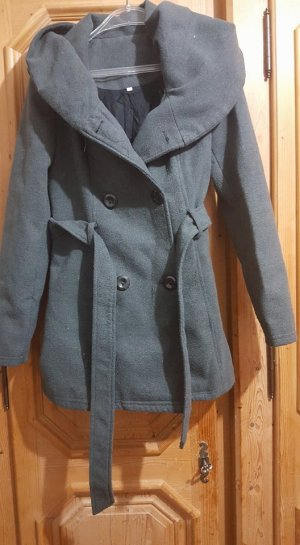 Zara Manteau court gris
