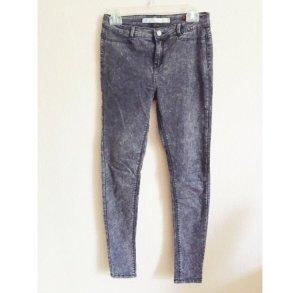 Zara grau verwaschene Skinny Jeans