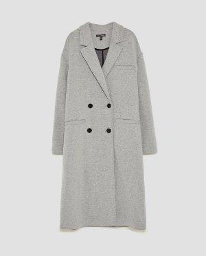 Zara grauer Mantel 36 oversize