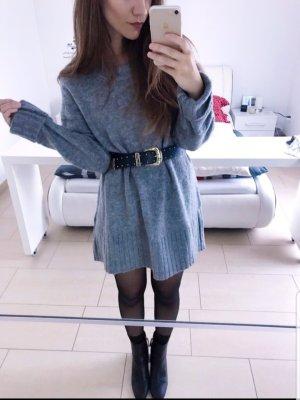 Zara grauer Pullover Pulli oversize Kleid Tunika blogger musthave