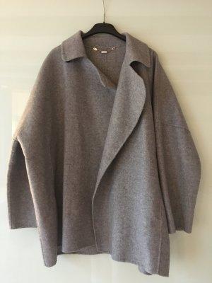 Zara Cape silver-colored wool