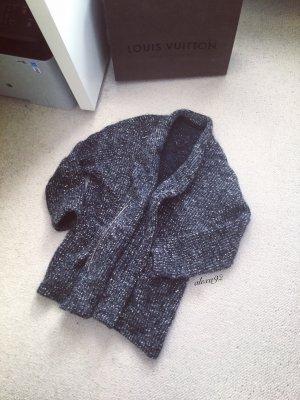 Zara Grobstrick Cardigan oversized lang Norweger Ethno Boho Kuschel Teddy
