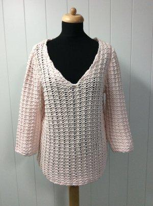 Zara Grobstrick Pullover rose