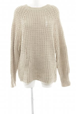 Zara Pullover a maglia grossa beige stile casual