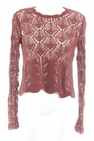 Zara Coarse Knitted Sweater russet loosely knitted pattern casual look