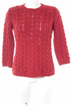Zara Grof gebreide trui rood casual uitstraling