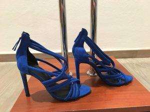 Zara Basic Strapped Sandals blue