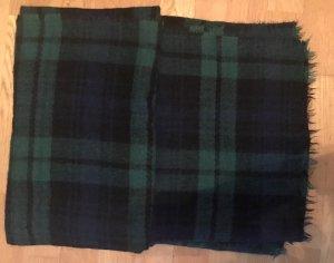 Zara Woolen Scarf dark blue-forest green synthetic fibre