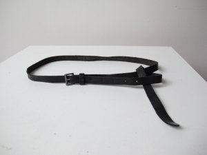 Zara Leather Belt black leather