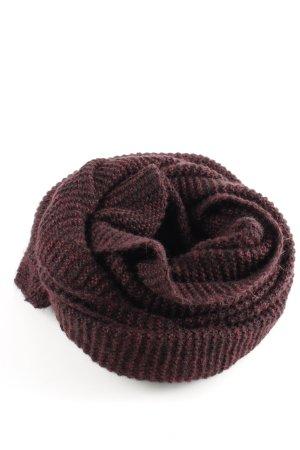 Zara Écharpe en crochet brun-rose moucheté style décontracté