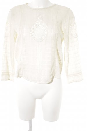 Zara Crochet Shirt cream casual look