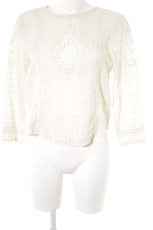 Zara Gehaakt shirt room casual uitstraling