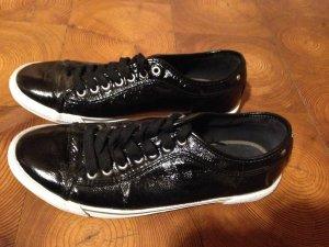 Zara halbhohe Sneakers, schwarz glänzend
