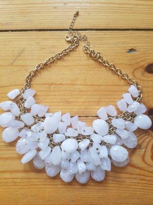 Zara Collier blanc-doré