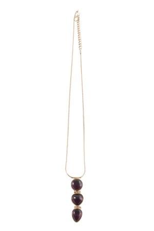 Zara Halskette goldfarben-lila Casual-Look