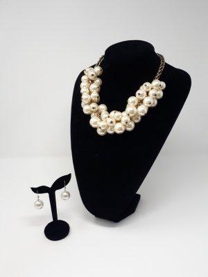 Zara Halskette Perle mit passenden Ohrringen
