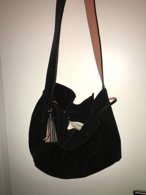 Zara Handtasche aus echtem Wildleder