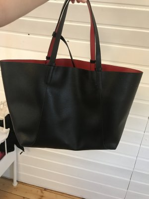 Zara Shopper noir-rouge