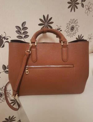 Zara Handbag cognac-coloured