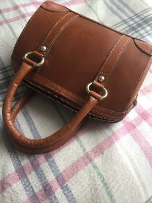 Zara Handbag brown-gold-colored