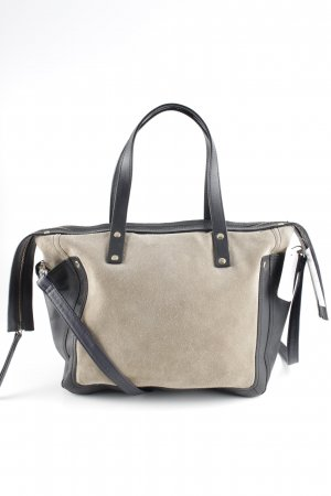 Zara Sac à main gris brun-noir style décontracté