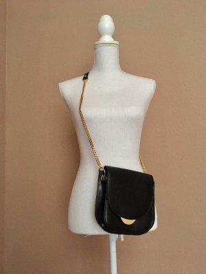 Zara Handtasche schwarz Gold neu!