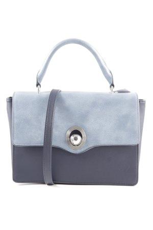 Zara Bolso azul acero-azul oscuro elegante