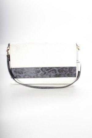 Zara Handtasche weiß-dunkelblau Animalmuster klassischer Stil