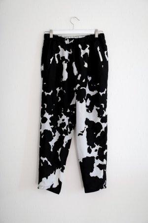 Zara Haremshose Oversized Hose schwarz weiß Gr. M Tailored