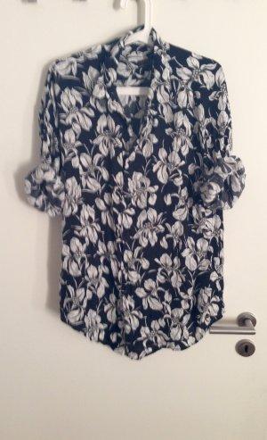 ZARA Hawaiihemd Bluse Oversize Hemd mit Blumenmuster Gr. M L